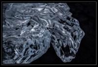 ice on black sand