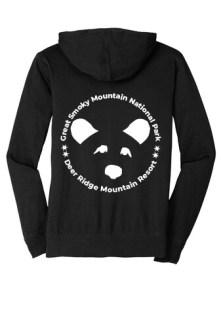 Bear Black Hoodie Back