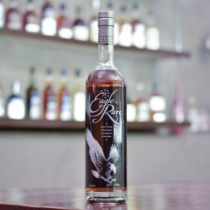 Eagle Rare 10 year bourbon straight whiskey matured for at least a decade before making its way into its distinctive bottles at 45% AB