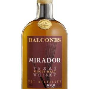 """Balcones Mirador Single Malt Whiskey Aged in Our Mirador is a """"second fill barrel malt profile"""" whisky. This bottling is made up of whisky"""