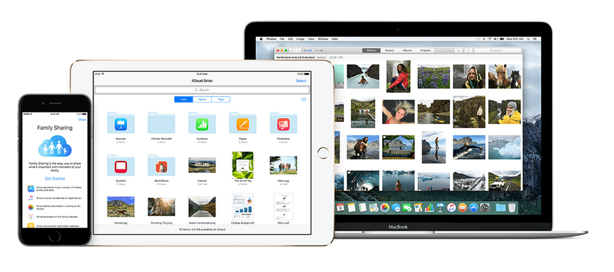 Apple's iCloud - its own online storage service.