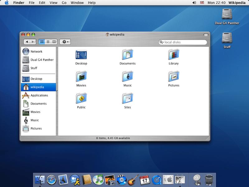 Mac OS X Panther. Image: Apple
