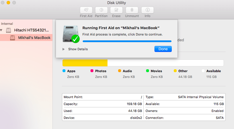 speed up your mac - disk utility