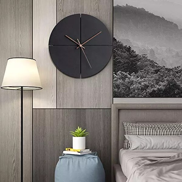 Unusual HROOME Black Wall Clock Gifts For Him