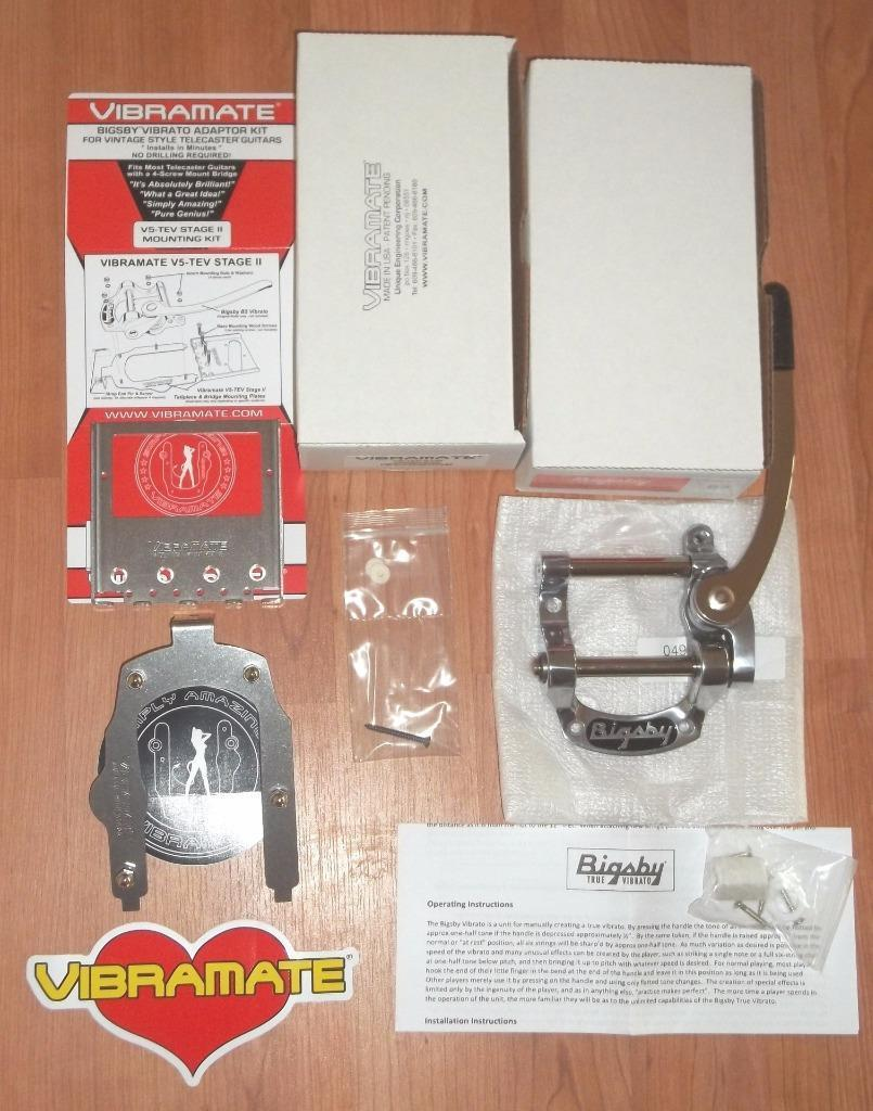 Bigsby® B5 & Vibramate® V5-TEV Stage II Conversion Kit~USA~Humbucker ...