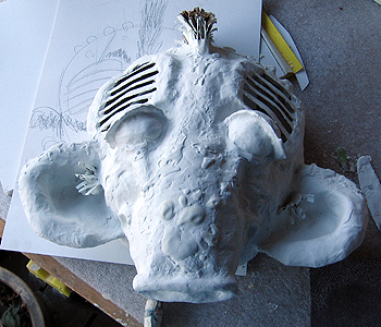 Covering the Mask with Gesso