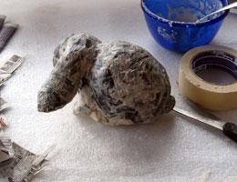 Paper Mache Bunny, Step 6