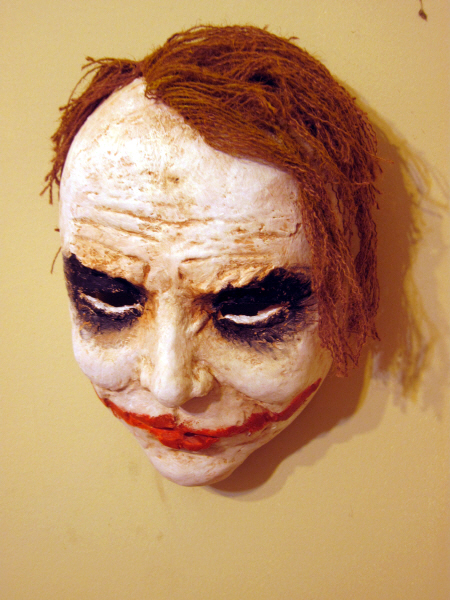 Joker Mask, Paper Mache Clay