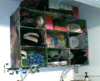 Paper Mache Shoe Storage Unit