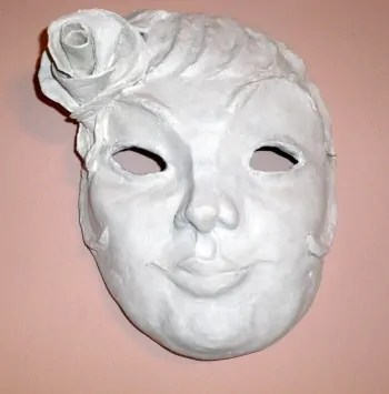 Mask Made With Celluclay