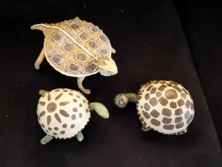 Paper Mache Turtles