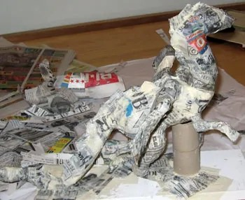 Paper Mache Dragon, Step 6