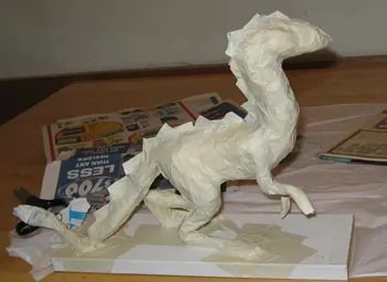 Paper Mache Dragon, Step 3