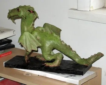 Paper Mache Dragon, Step 9