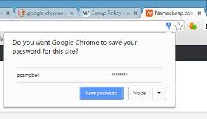 chrome browser password saving