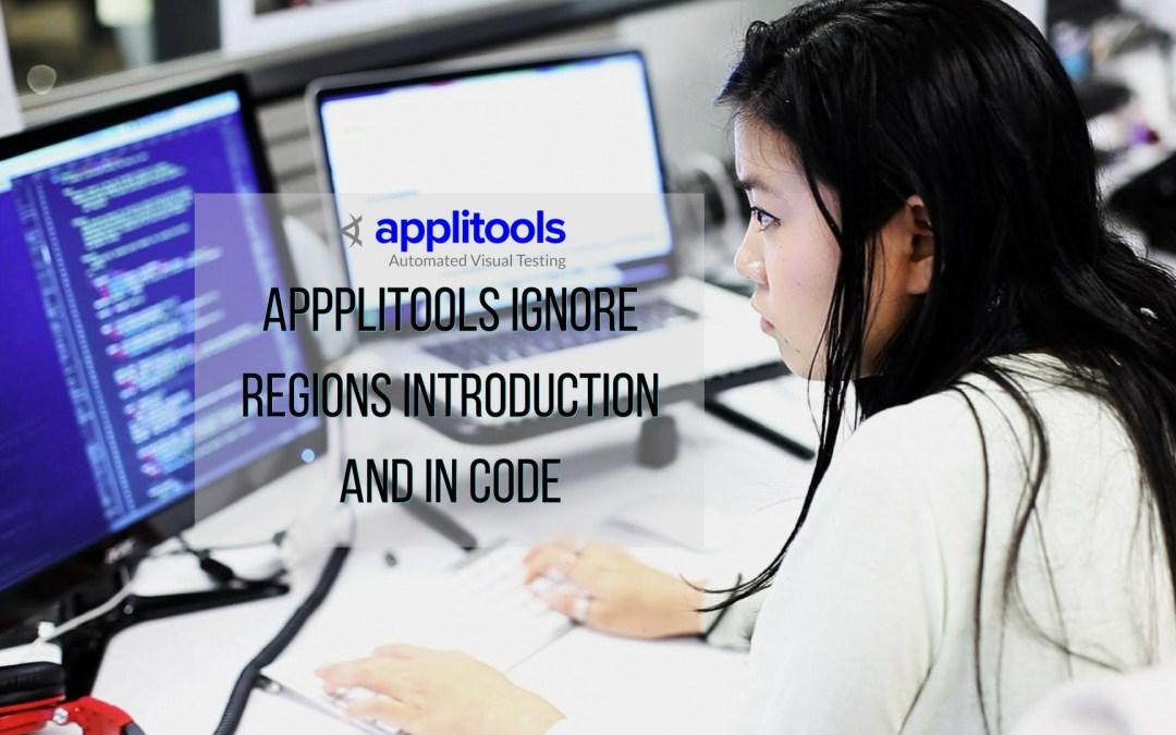 Applitools Ignore Regions