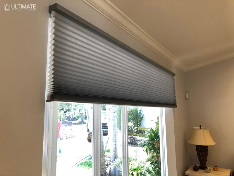 honeycomb shades in room