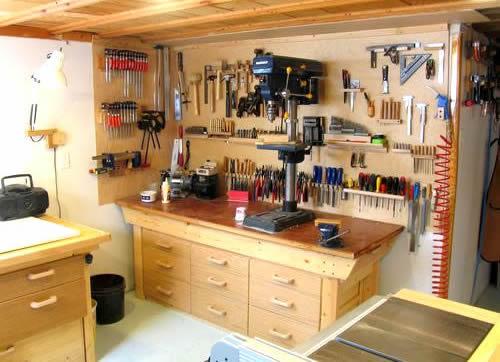 set up home garage workshop how to