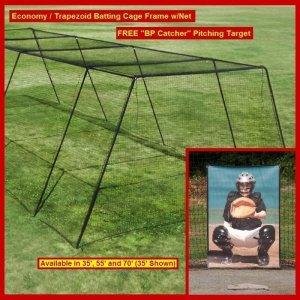 "Backyard Batting Cage Frame w/Net and Free ""BP Catcher"""