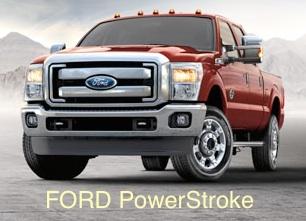 PowerStroke Diesel - red crew cab