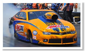 Amsoil Research Orange Dragstrip Car