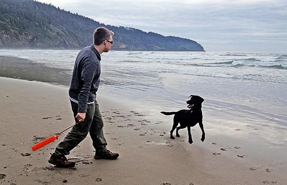 Wyatt in the Ocean