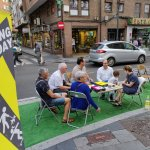Parking Day en la calle Angustias de Valladolid