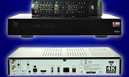 AX 4KBox HD51 fischt Ultra-HD-Inhalte aus dem Orbit