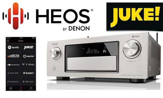 Denons HEOS-System nimmt JUKE-Streamingdienst mit an Bord