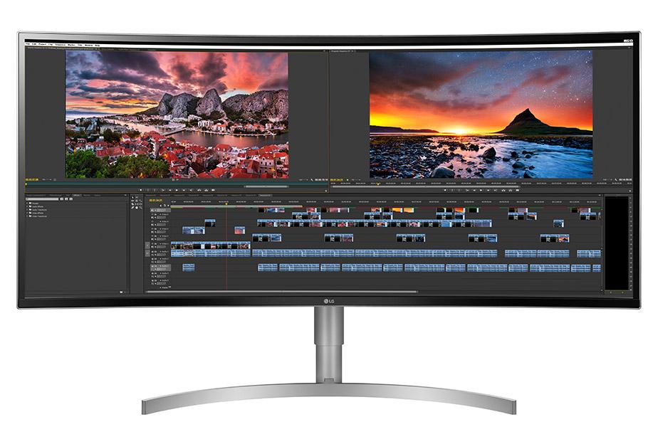 """Auch LG setzt bei Ultrawide-Monitoren auf die """"Curved""""-Technik"""