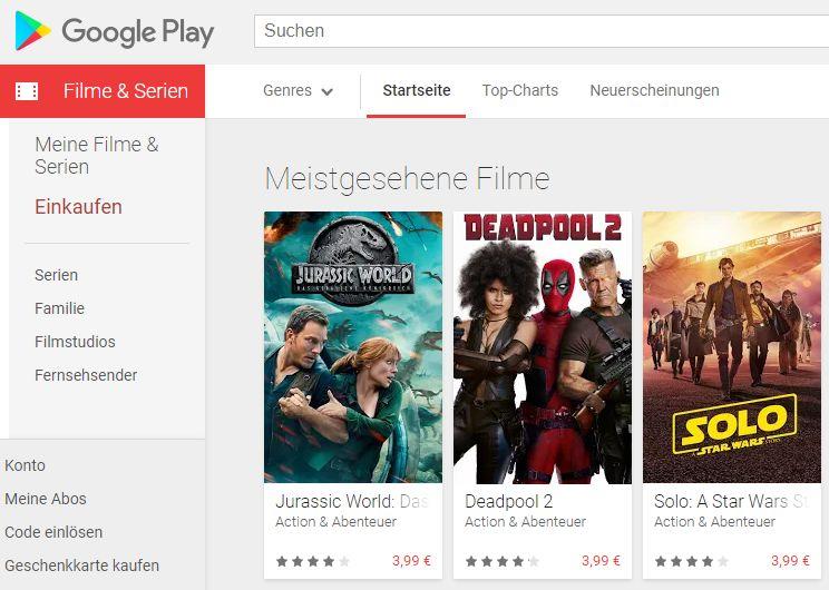 Google Play Movies: Kostenloses 4K-Upgrade wohl am Horizont