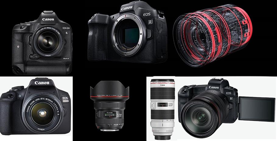 Kameras mit Wechselobjektiven: Canon bleibt auf Platz Nummer 1