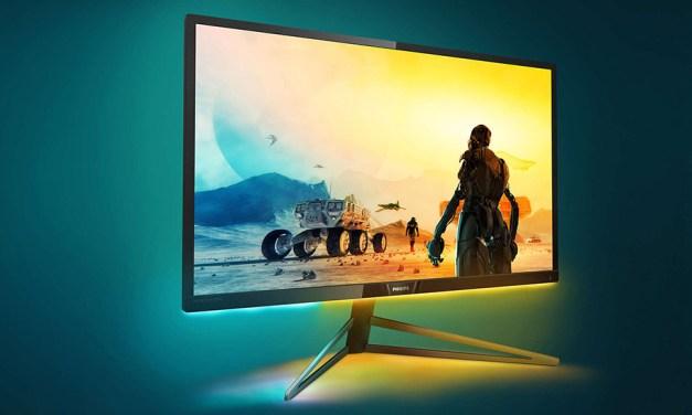 """Philips Gaming-Monitor """"pimpt"""" virtuelle Welten mit Ambiglow"""