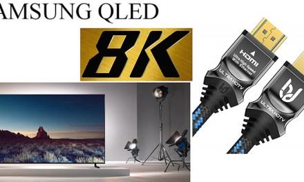 Samsung 8K-TVs werden gepimpt : Ultra-HDTV hat die Kabel dafür