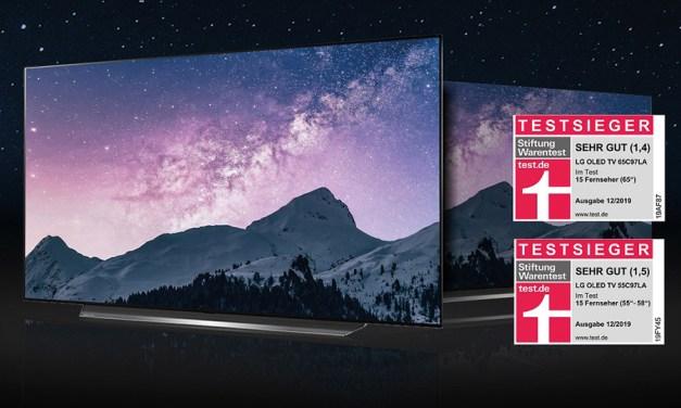 Stiftung Warentest: Acht der zehn besten OLED-TVs sind von LG!