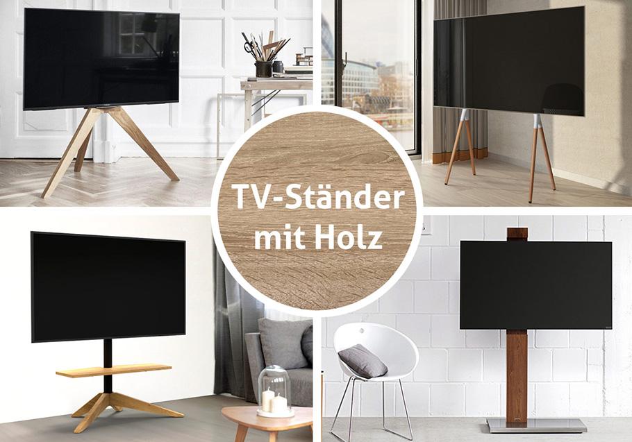 """Stilvolles """"Holz in der Hütte"""" bringt Fernseher zur Geltung"""