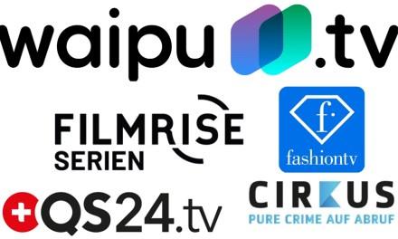Vier neue Kanäle bei waipu.tv erweitern das Internet-Angebot