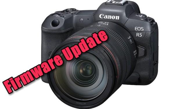 """Neue Firmware-Version für die """"Hybridkamera"""" Canon EOS R5"""