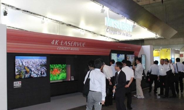 Mitsubishi 4K LaserVue LCD TV auf CEATEC präsentiert