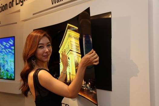 """LG präsentiert 4K OLED Fernseher Prototyp zum """"Tapezieren"""""""