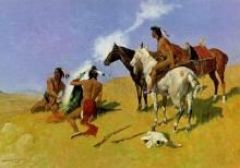 狼煙を上げるインディアン