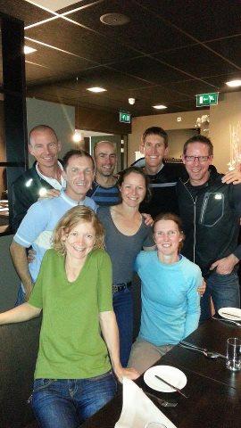 Back - John Pearson, Ewan Horsburgh, David Kennedy, Rick Cooke Middle - Malcolm Gamble, Sharon Scholz Front - Bernadette Benson, Allison Lilley.