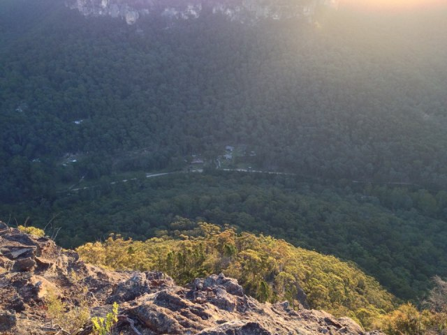 Some pretty awesome views await the runners at the top of the mystery mountain looking down on Newnes