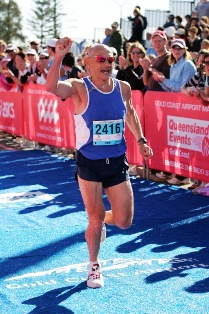 Ray at 58 running a 2:58 Gold Coast marathon