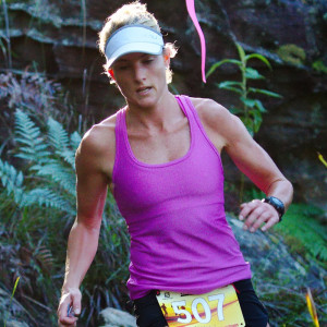 Reegan at the short course Sydney Trail Series, where she's had lots of success