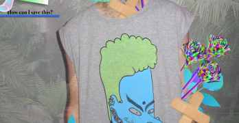 Happy Diwali: Vishnu Beavis Seapunk Shirt