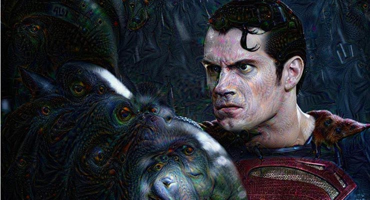 Batman vs. Superman Dawn of Justice Deep Dream