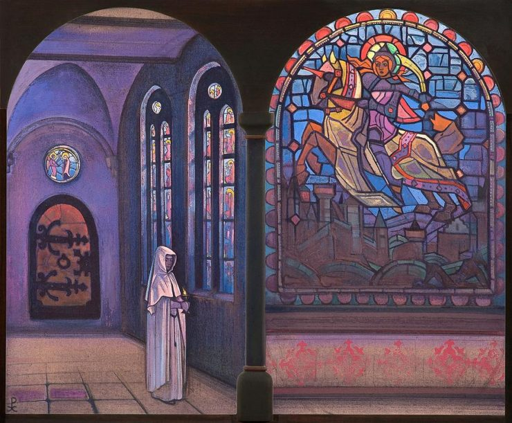 Glory to the Hero by Nicholas Roerich. Image via Wikiart.org.