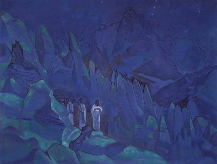 Burning the Darkness by Nicholas Roerich. Image via Wikiart.org.