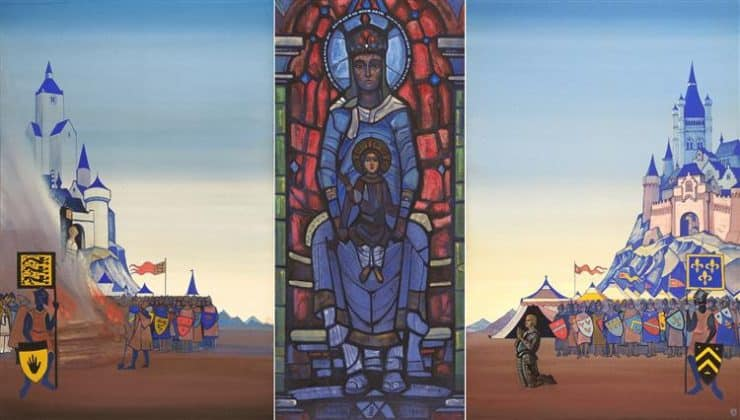 Joan of Arc by Nicholas Roerich. Image via Wikiart.org.